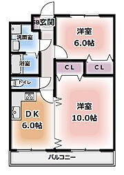 GO6[3階]の間取り