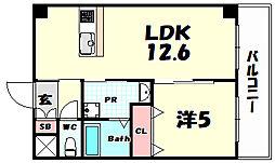 Cerezo 6階1LDKの間取り