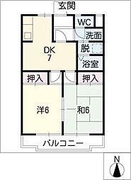 ロッキー須崎B棟[1階]の間取り