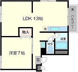 千里園マンション[4階]の間取り