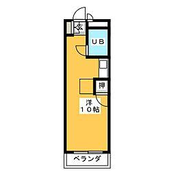 フォーラム石川[2階]の間取り