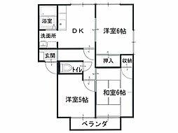 香川県観音寺市出作町の賃貸アパートの間取り
