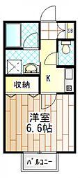 グリーンパークII[2階]の間取り