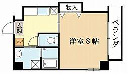 近鉄京都線 小倉駅 徒歩6分の賃貸マンション 1階1Kの間取り