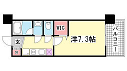 アーデンタワー神戸元町[4階]の間取り