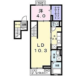 クレメントハウス[0408号室]の間取り
