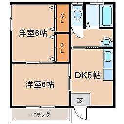 クローバーハウス[1-2号室]の間取り