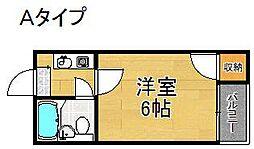 コーポ南加賀谷[3階]の間取り