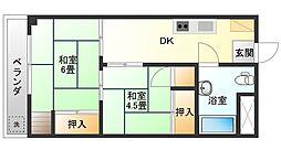 三田桜台第3コーポソレイユ[311号室]の間取り