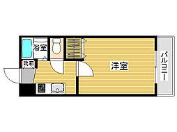 ラカーサ田島[1階]の間取り
