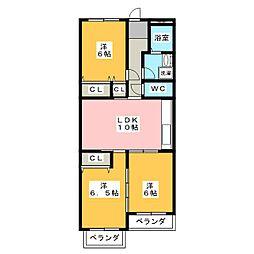 グリーンライフ東山[3階]の間取り
