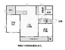 徳島県徳島市八万町下福万の賃貸アパートの間取り