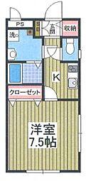 リッツウェアハウスH&M[1階]の間取り