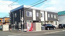 北海道札幌市東区北四十条東18丁目の賃貸アパートの外観