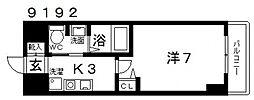 casa vera luce(カサベラルーチェ)[407号室号室]の間取り