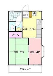 桜ハイツ[2階]の間取り