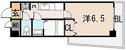 リバーサイド金岡 五番館[4階]の間取り
