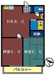 スズキハイツ[105号室]の間取り