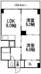エターナル1[2階]の間取り