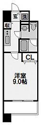 プラウドフラット新大阪[808号室]の間取り