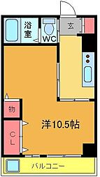 タウンハイツ1号棟[2階]の間取り