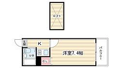 京都府京都市西京区松室山添町の賃貸アパートの間取り