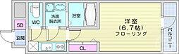 仙台市営南北線 勾当台公園駅 徒歩10分の賃貸マンション 9階1Kの間取り