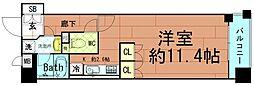 カイセイ阿波座[8階]の間取り