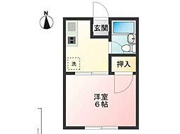 梅田コーポ[2階]の間取り