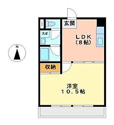 レスカール松原[7階]の間取り