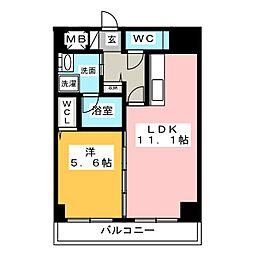 ラシュレ大須[4階]の間取り