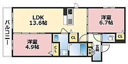 (仮称)東成区シャーメゾン中本5丁目計画[302号室号室]の間取り