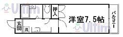 京都府京都市山科区椥辻番所ケ口町の賃貸マンションの間取り