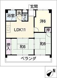第2大鐘ビル[2階]の間取り