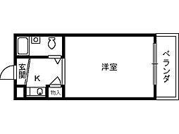 ユウパレス穴田[5階]の間取り