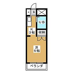 レイク サイド カトウ[3階]の間取り