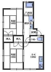 広島県呉市阿賀中央4丁目の賃貸アパートの間取り