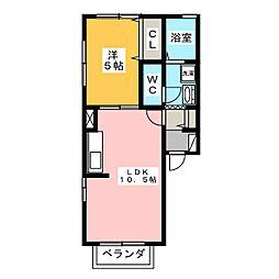サニーサイド貴布祢[2階]の間取り