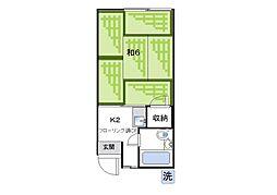 第二松栄荘[205号室]の間取り