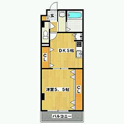 ラモーダ西院[1階]の間取り