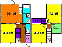[一戸建] 静岡県浜松市中区住吉5丁目 の賃貸【/】の間取り
