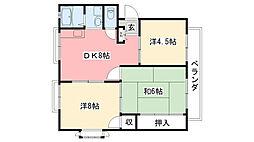 兵庫県西宮市戸崎町の賃貸アパートの間取り