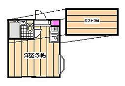 ペアパレス成増P−I[2階]の間取り