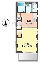 アジュールジョウサイ(AZUR JOSAI)[4階]の間取り