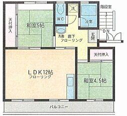 大倉マンション[303号室]の間取り