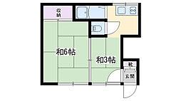 染井荘[102号室]の間取り