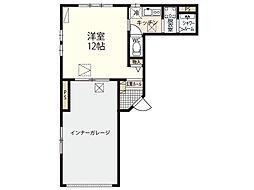 広島電鉄3系統 皆実町六丁目駅 徒歩1分の賃貸アパート 1階1Kの間取り