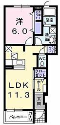 サンパティークII[0103号室]の間取り