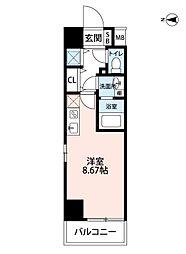レジディア大阪福島[11階]の間取り