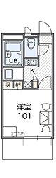 JR阪和線 我孫子町駅 徒歩14分の賃貸マンション 1階1Kの間取り